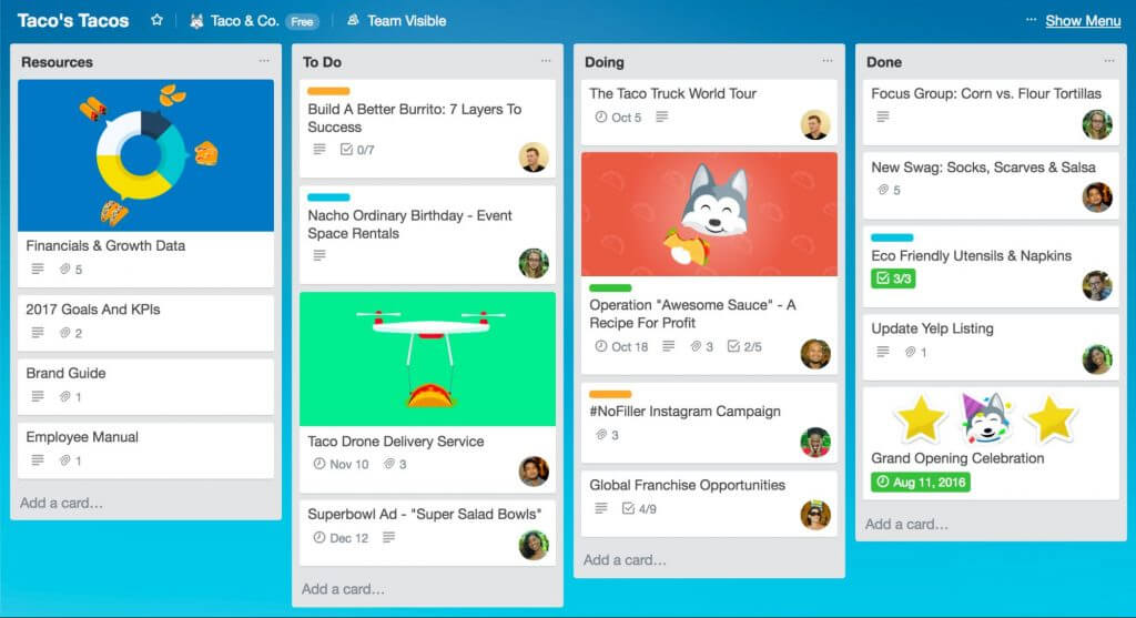 Trello will help you work remotely