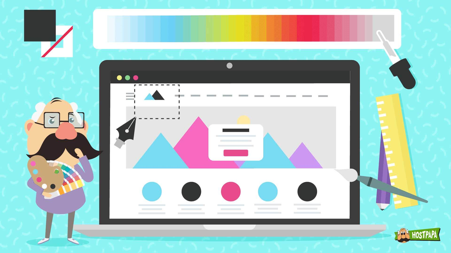 Selecting colors for your business website